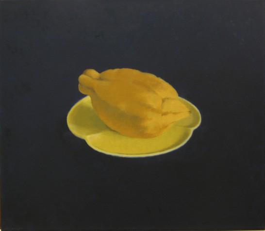 citroen op geel schoteltje